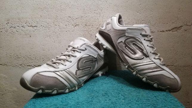 Sneakersy SKECHERS BIKERS TICKLED skóra stan bardzo dobry