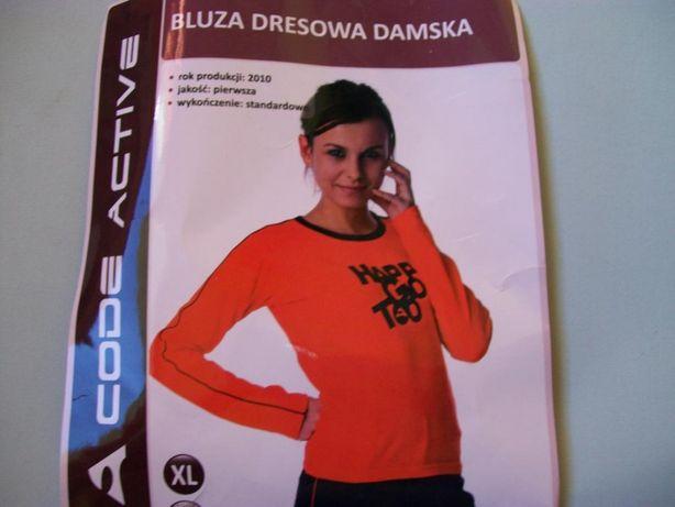 bluza sportowa damska / odblaskowy pomarańczowy / M