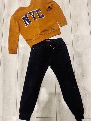 Джинсы на флисе на мальчика 140р. Зимние джинсы. Джоггеры.