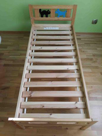 Łóżko dla dziecka Ikea Kritter 160x70 z materacem