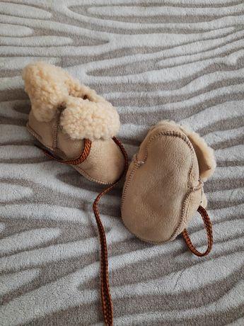 Чуни из овчины для детей
