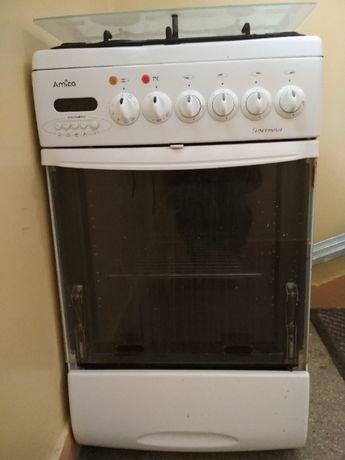 Amica: kuchenka gazowa z elektrycznym piekarnikiem-wszystko sprawne!!!