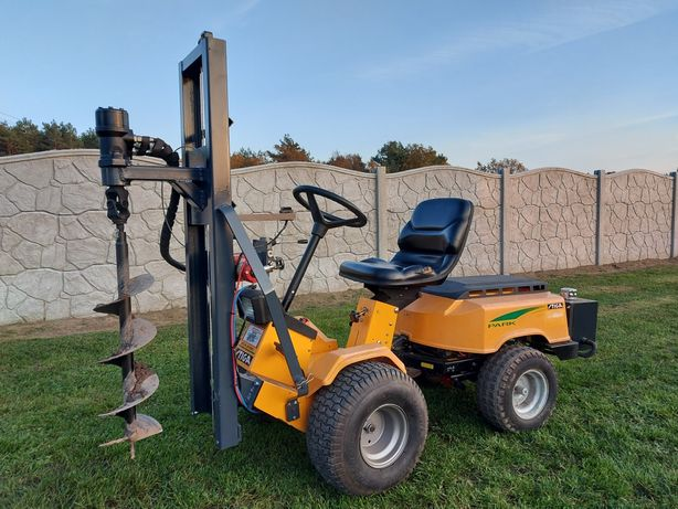 Wiertnica Glebowa Hydrauliczna Na Traktorku / Dwa Cylindry / Geologia