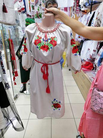 Платье льняное в украинском стиле
