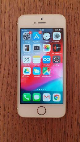 Telemóvel iPhone SE 16GB Gold desbloqueado como novo com caixa