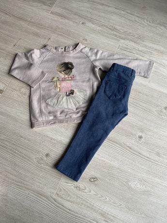 98 Mayoral zestaw spodnie, bluza/bluzka