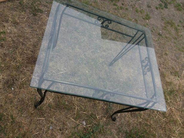 Stolik metal szkło