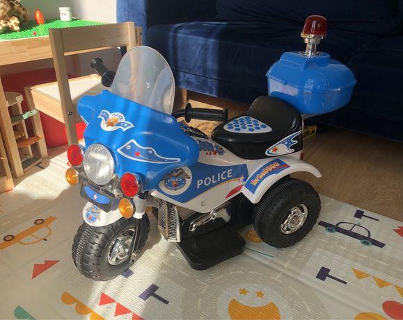 Motorek elektryczny policyjny na akumulator 6v zabawka dla dziecka