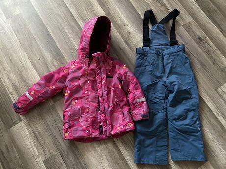 Зимняя Куртка + комбинезон 110размер