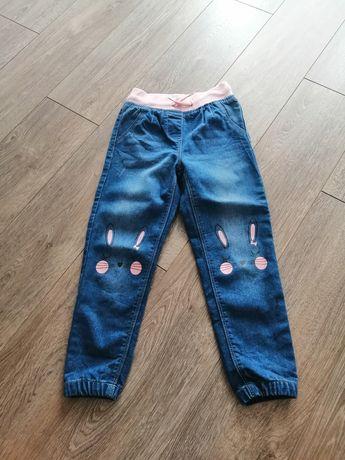 Spodnie jeansowe na gumke dla dziewczynki 110 Pepco