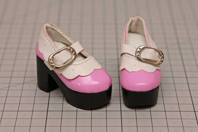 Buty dla lalki BJD Minifee 1/4 lilaróż z białym