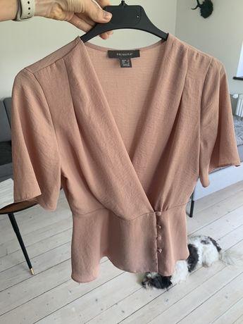 Bluzka pudrowy roz 34 xs elegancka