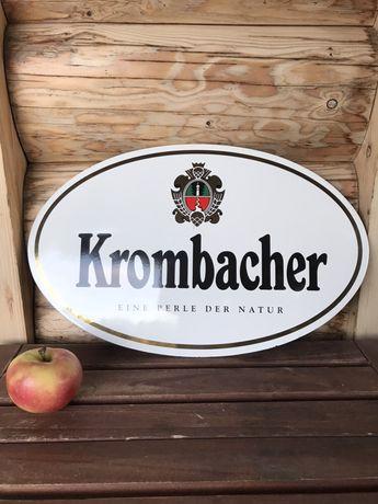 Prezent Tablica reklamowa KROMBACHER, stalowa blacha do pubu, altany