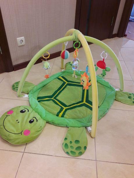 """Развивающий коврик для малышей """"Черепаха"""""""