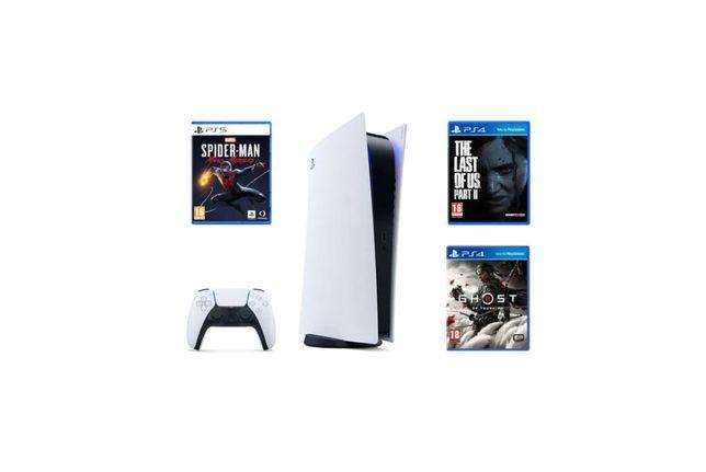 Play Station 5 + pad + dodatkowy pad + 3 gry