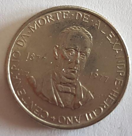 Moeda 2,5 escudos 100 anos Falecimento de Alexandre Herculano 1977