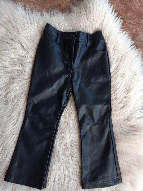 Spodnie skórzane  dziewczęce 98 cm Next
