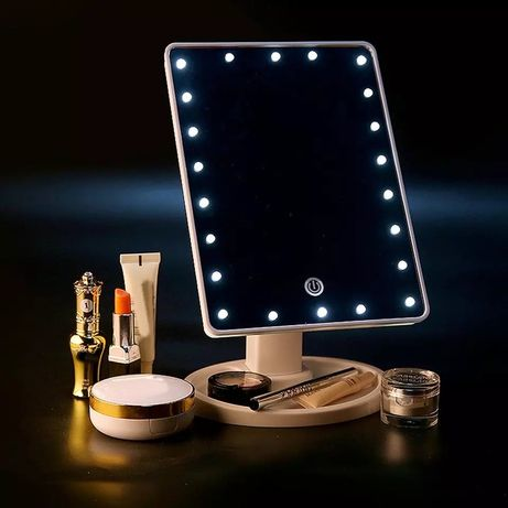 Led mirror зеркало с подсветкой настольное для макияжа 16 led