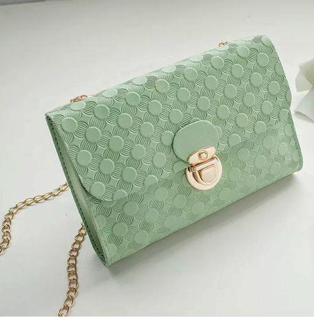 Nowa elegancka kopertówka torebka LV na złotym łańcuszku