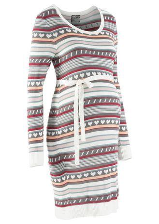 BONPRIX BPC S 36 Sukienka ciążowa z dzianiny w norweski wzór 32/34