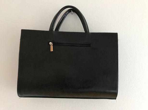 Skórzana torba czarna
