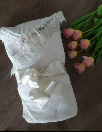 Одеяло  конверт для выписки / крещения