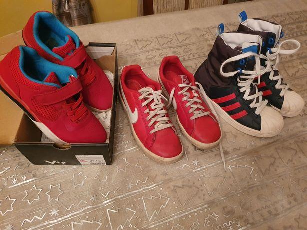 Buty Adidas Nike r. 35 dla chłopca czerwone...