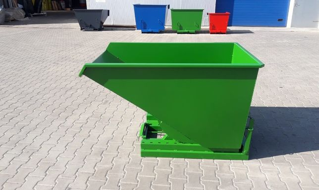 Trwały zbiornik metalowy 0,6 m3, do wózków widłowych, solidny