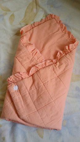 Конверт на выписку, одеяло детское. Бортик в кроватку в подарок