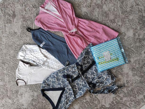 Одяг в родом для вагітних, для годування сорочка халат