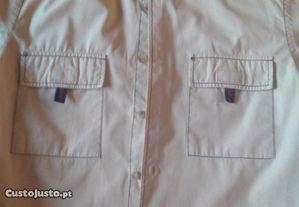 Camisa Lion of Porches, cor bege e tamanho S - Bom estado