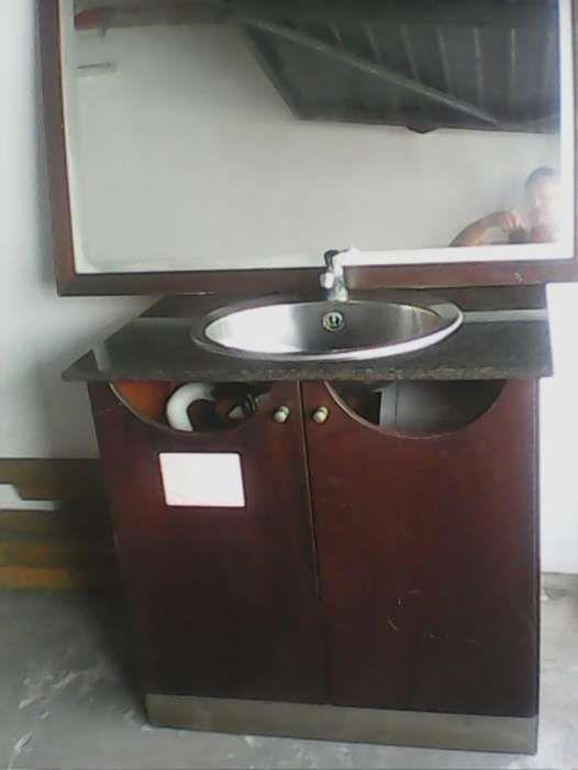 Móvel de casa de banho com espelho, completo