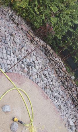 Podwórka, kostka, kamień-brukowy, polny