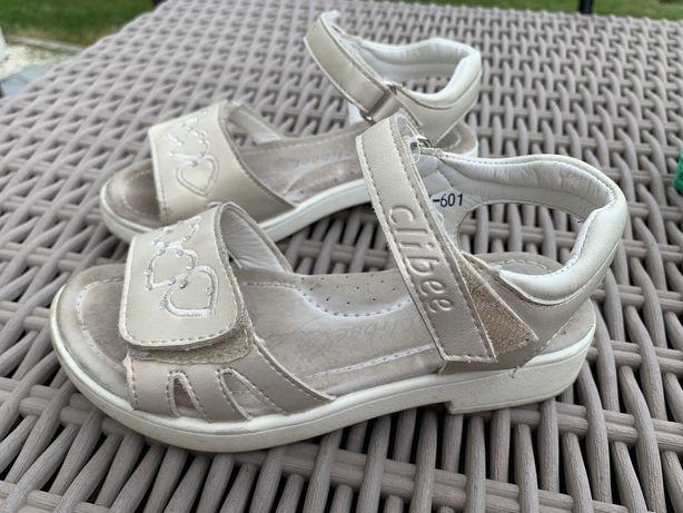 Sliczne sandali dla malej damy skorzane rozm. 28