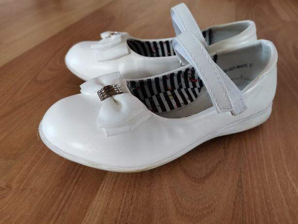 Buty eleganckie białe 31