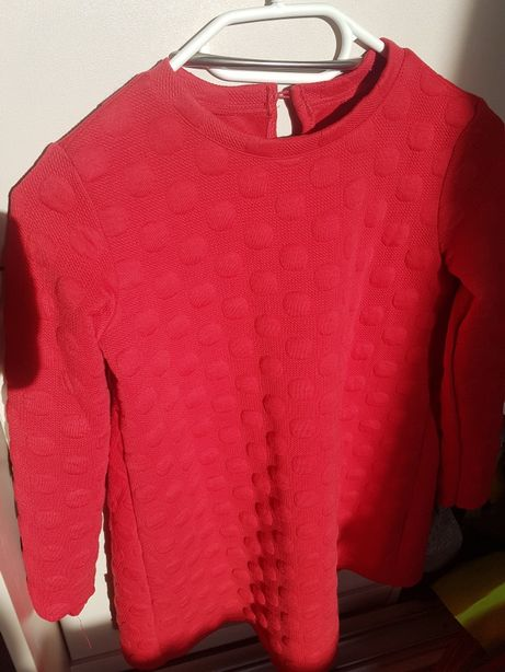 czerwona sukienka dla dziewczynki 134cm