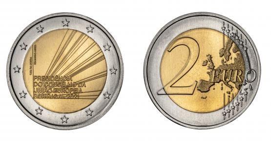 2€ comemorativa Presidência União Europeia Portugal 2021 2 Euros