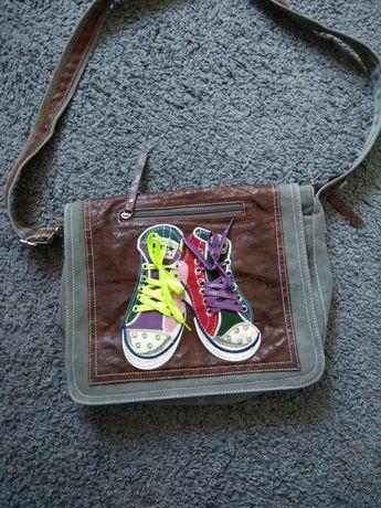 Torba młodzieżowa na ramię z butami