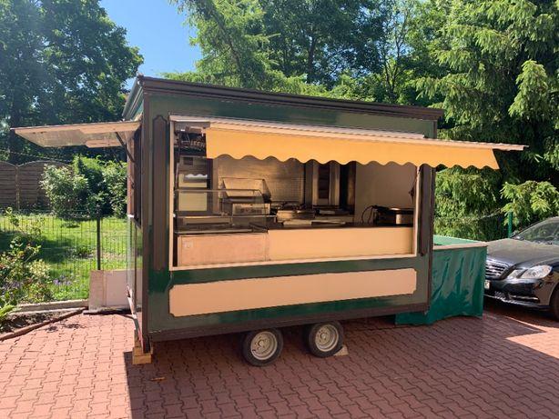 Przyczepa gastronomiczna food truck gotowy biznes kebab hamburgery