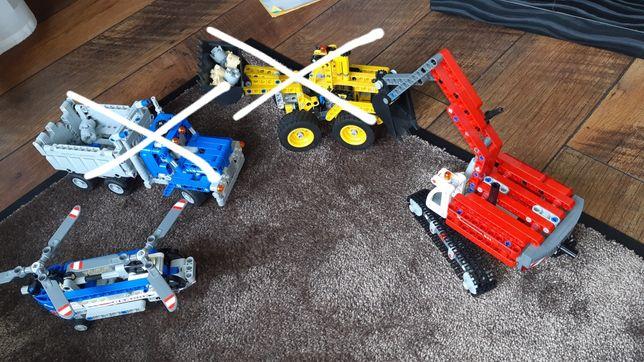 LEGO Technik koparka, wywrotka, helikopter 42023, 42020
