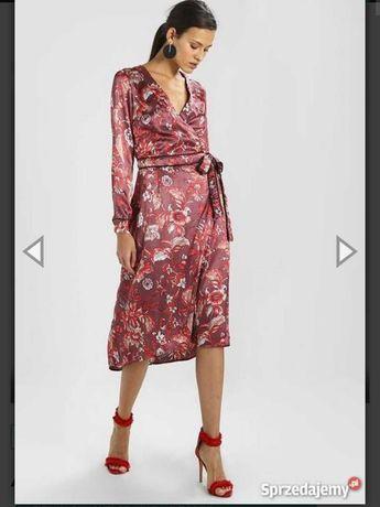 красивые платья атласное платье запах миди  платье  пояс разрез платье