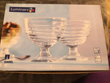 Pucharki do lodów deserów szklane Luminarc 6 sztuk