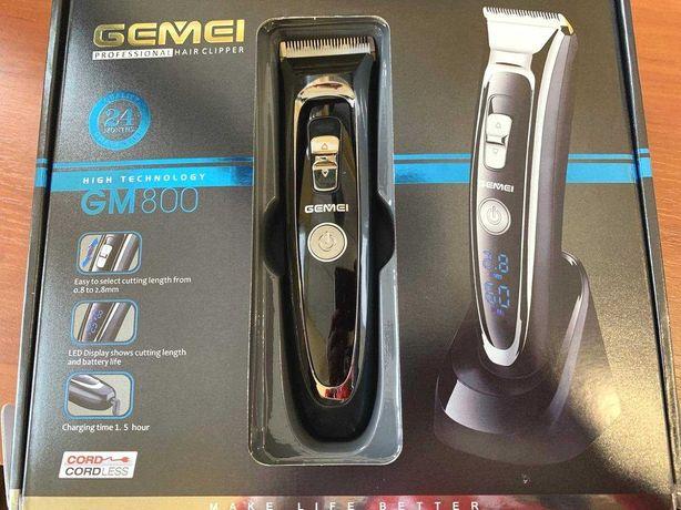 Машинка для стрижки волос, бороды триммер бритва gm800 нa аккумуляторе