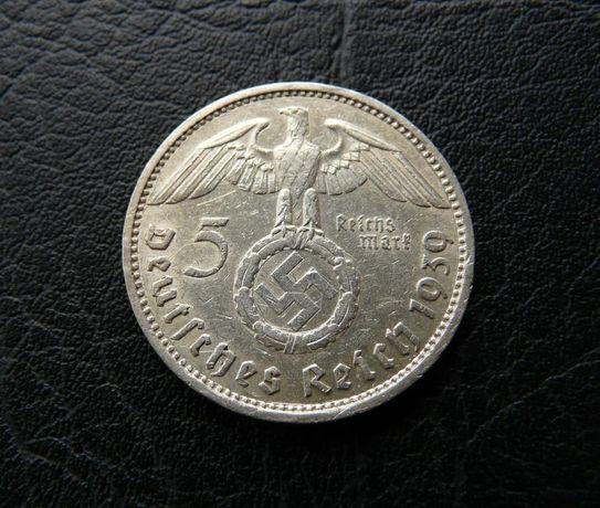 5 Марок Германия 1939 E 3 Рейх Свастика РЕДКАЯ !