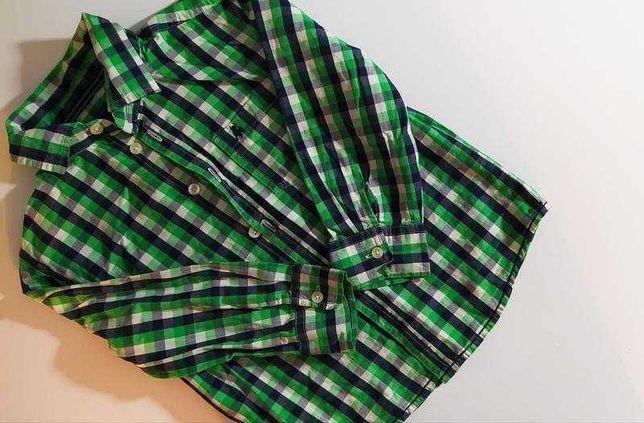 Стильная салатовая рубашка в клетку на мальчика Rebel/zara
