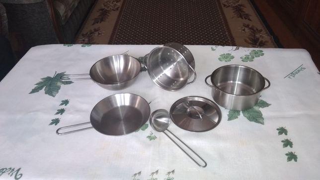 посуда,детская кухонная посуда DUKTIG, 5 предметов+половник в подар