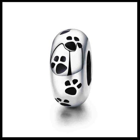 Charms koralik do Pandora zawieszka srebrna 925 łapka pies kot zwierzę