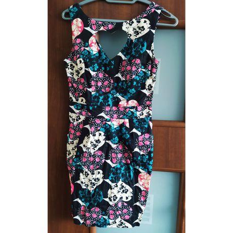 Cena za całość sukienki rozmiar 36 S w kwiatki eleganckie jak nowe