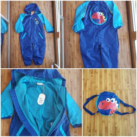 Новый Комбинезон bluezoo, дождевик-  рюкзак, ветровка