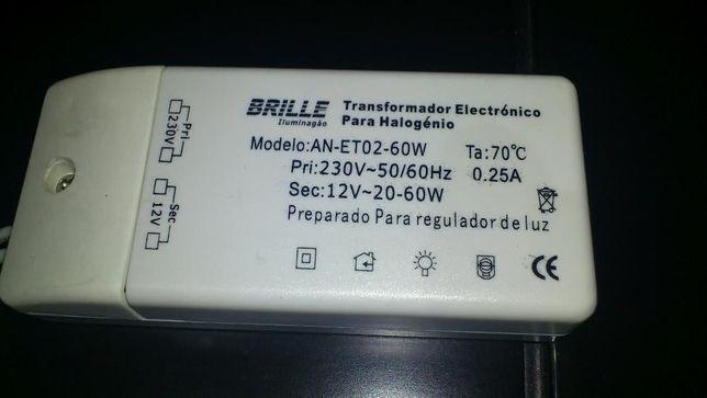 Transformador eletronico OSRAM + lâmpada halógeneo 50W